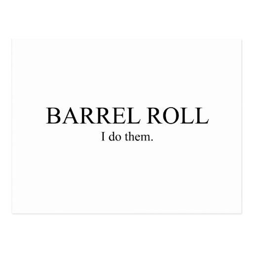 Barrel Roll 3 Postcard