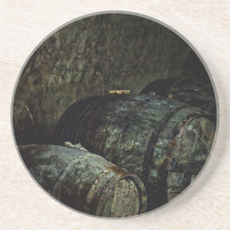 Barrels dark painterly coasters