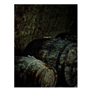Barrels dark painterly postcard