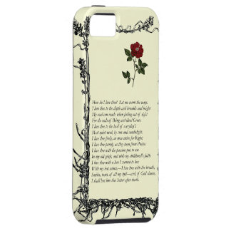 Barrett Browning, Sonnets from the Portuguese # 43 Tough iPhone 5 Case