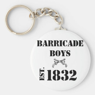 Barricade Boys Odds and Ends Basic Round Button Key Ring