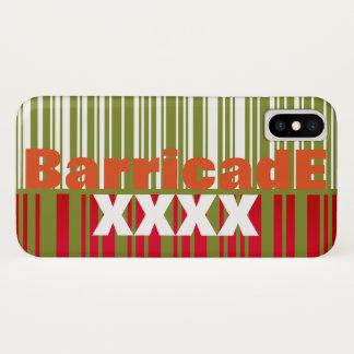 BarricadE XXXX 128barcode green iPhone X Case