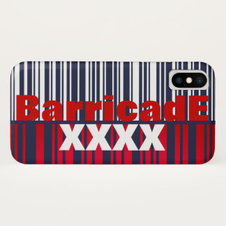 BarricadE XXXX 128barcode iPhone X Case