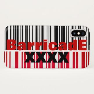 BarricadE XXXX 128barcode white iPhone X Case
