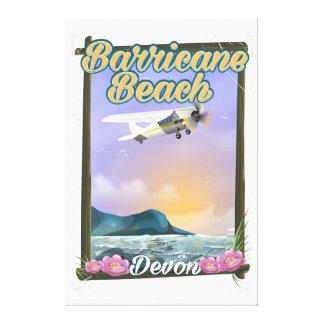 Barricane Beach, Devon vacation poster Canvas Print