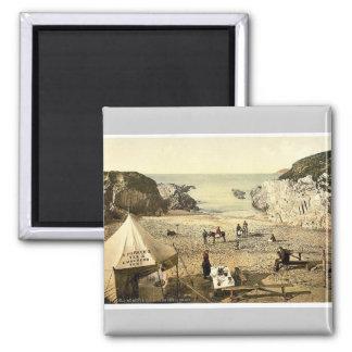 Barricane Shell Beach, Morthoe, England rare Photo Square Magnet