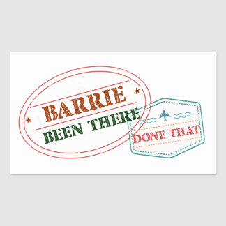 Barrie Been there done that Rectangular Sticker