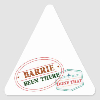 Barrie Been there done that Triangle Sticker