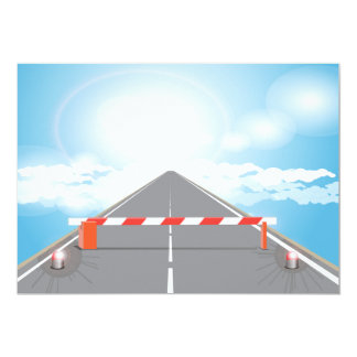 Barrier On A Road Invitations
