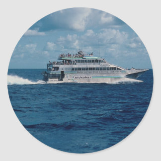 Barrier Reef cruise ship, Port Douglas, Australia Classic Round Sticker