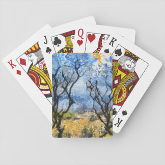 Barring the way playing cards