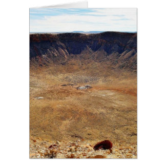 Barringer Meteorite Crater Card
