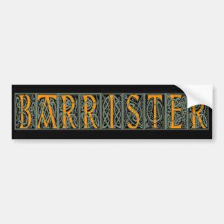Barrister Bumper Sticker