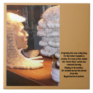 """Barrister Heads with Authentic Wigs"" Tile"