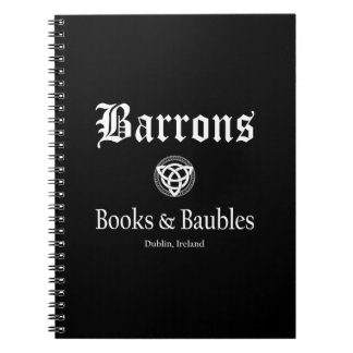 Barrons Books and Baubles Spiral Notebook