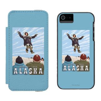 Barrow, Alaska Blanket Toss Vintage Travel Incipio Watson™ iPhone 5 Wallet Case
