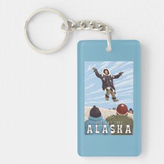 Barrow, Alaska Blanket Toss Vintage Travel Key Ring