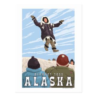 Barrow, Alaska Blanket Toss Vintage Travel Postcard