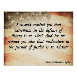 Barry Goldwater Quote Poster