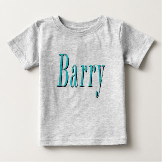 Barry, Name, Blue Logo, Baby T-Shirt