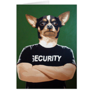 Barry the security guard card