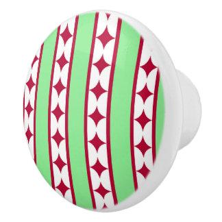 bars and stars xmas ceramic knob
