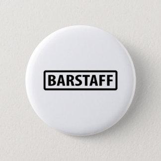 barstaff waiter icon 6 cm round badge