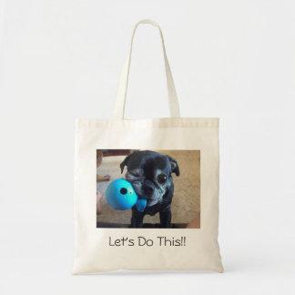 Bart the pug tote bag