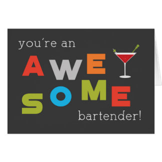 Bartender Appreciation Day Awesome Card