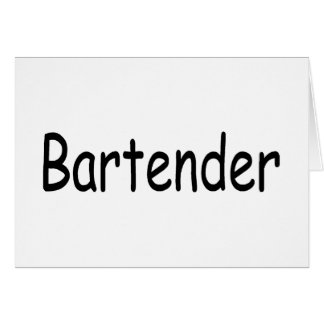 Bartender Card