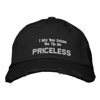 BARTENDER EMBROIDERED HAT