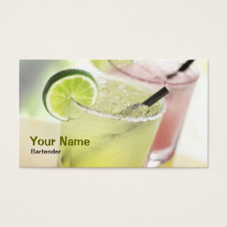 Bartender Margarita Business Card