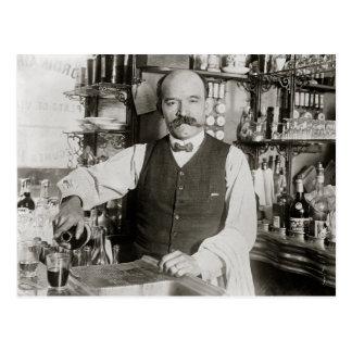Bartender Pouring Drink, 1910 Postcard