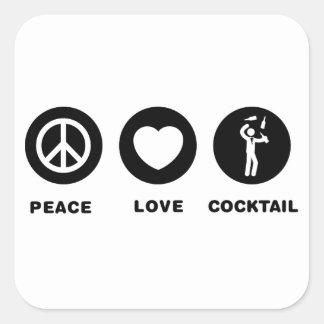 Bartender Square Sticker