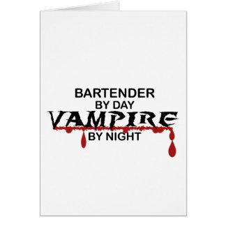 Bartender Vampire by Night Card
