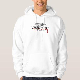 Bartender Vampire by Night Hoodie