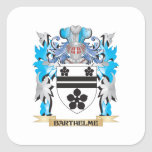 Barthelme Coat of Arms Square Sticker