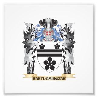 Bartlomieczak Coat of Arms - Family Crest Photographic Print