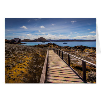 Bartolome Island in the Galapagos Islands Card
