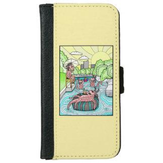 Barton Creek Salamanders Color Design iPhone 6 Wallet Case