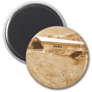 Bartonsville Covered Bridge 6 Cm Round Magnet