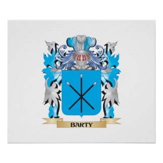 Barty Coat of Arms Poster