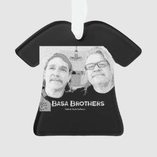 Basa Brothers Black T-Shirt Christmas Ornament