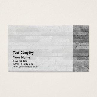 Basalt brick wall business card