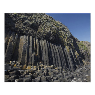 Basalt Columns by Fingal's Cave, Staffa, off Poster