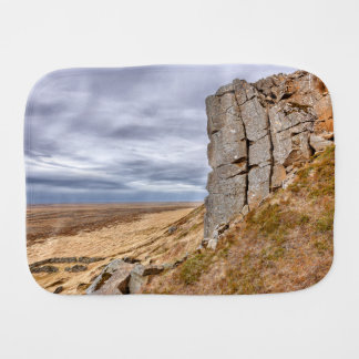 Basalt columns in Gerduberg Iceland Burp Cloth