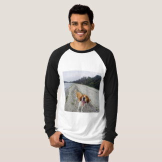 Base ball t-shirt with cute dog