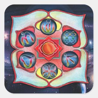Base Chakra Square Sticker