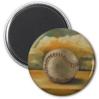 Baseball[1] 6 Cm Round Magnet