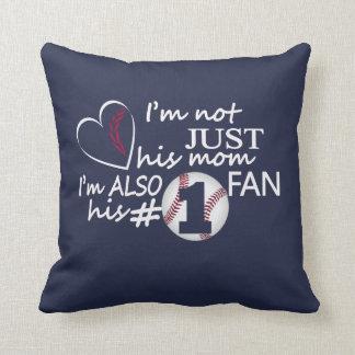 Baseball #1 Mom Cushion
